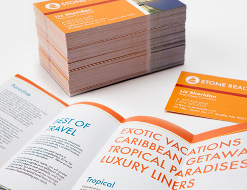 Short print run brochure and business cards