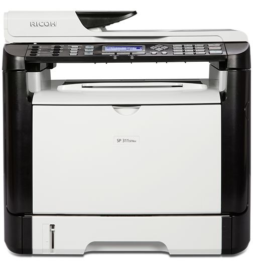 SP 311SFNw Black and White Laser Multifunction Printer